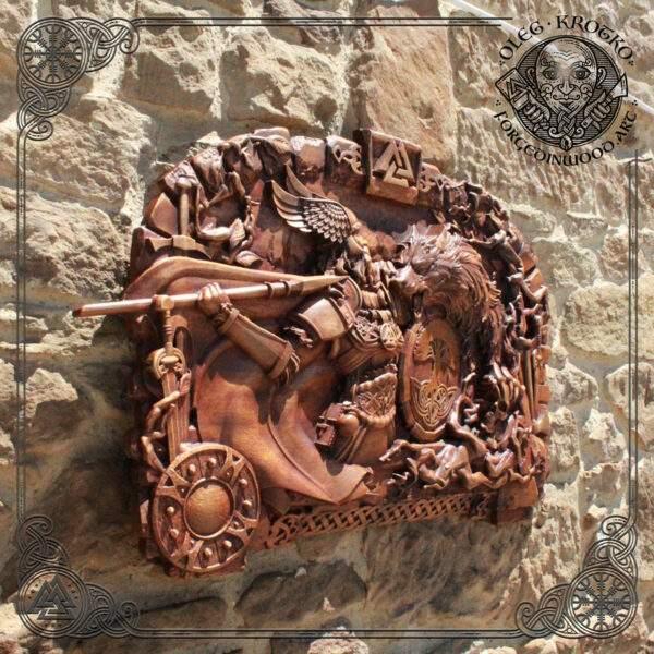 Odin Fenrir Ragnarok hand carved