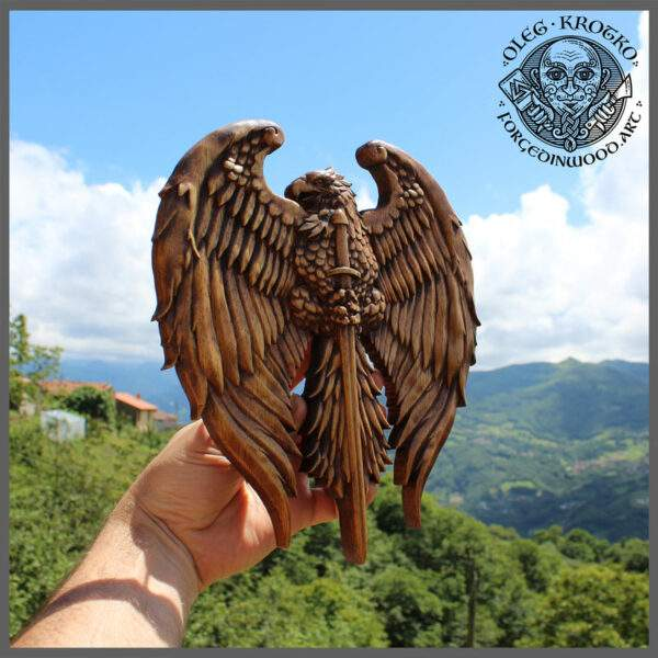 Eagle Coat of Arms Carver in Wood