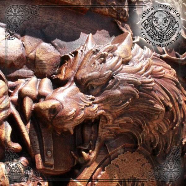 Viking norse god Odin Ragnarok