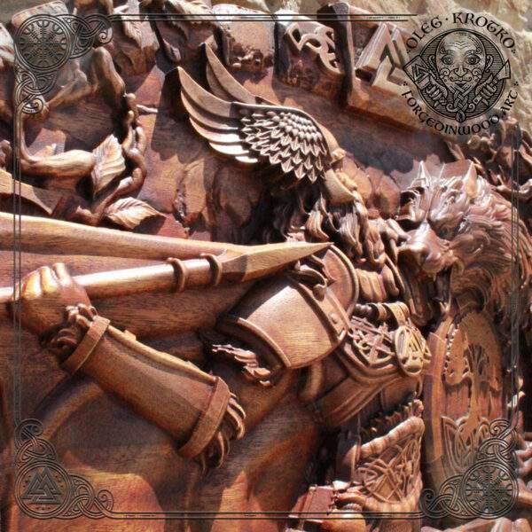 Odin Fenrir Ragnarok Carving