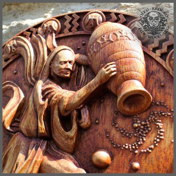 Aquarius Zodiac wood for sale