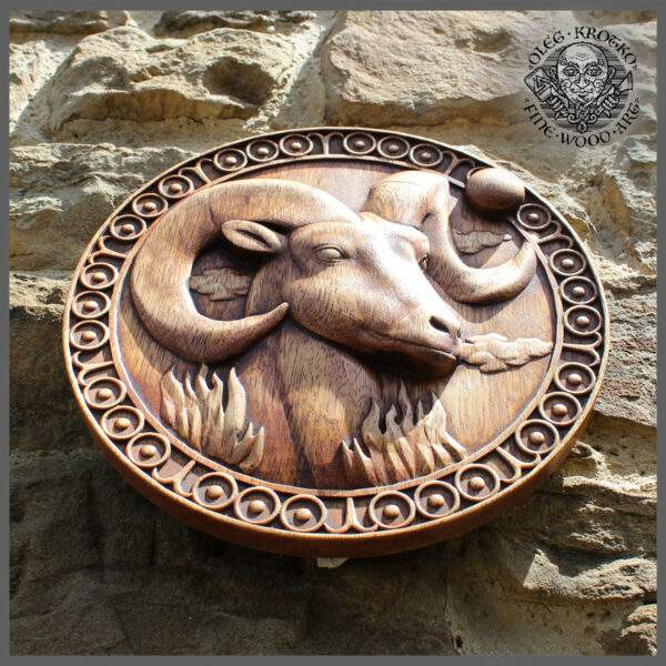 Aries Zodiac Sign carvings