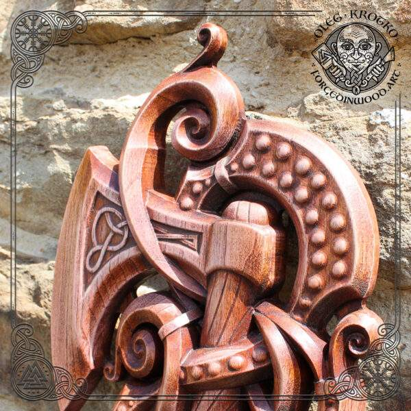 Odin´s axe hand carved