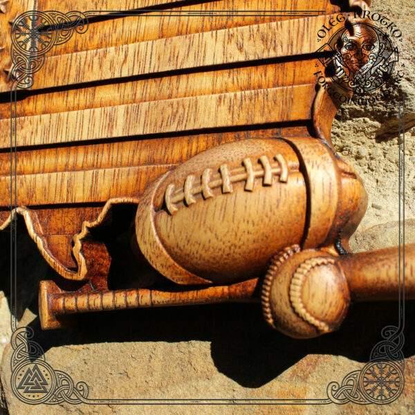 Baseball American Flag woodworking