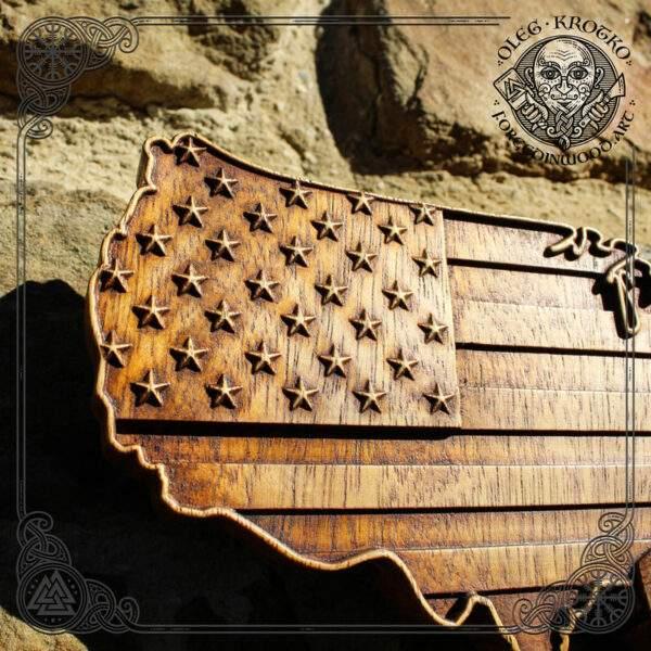 American flag baseball wall art