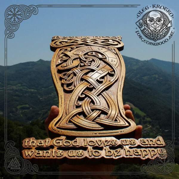 Beer cup carvings