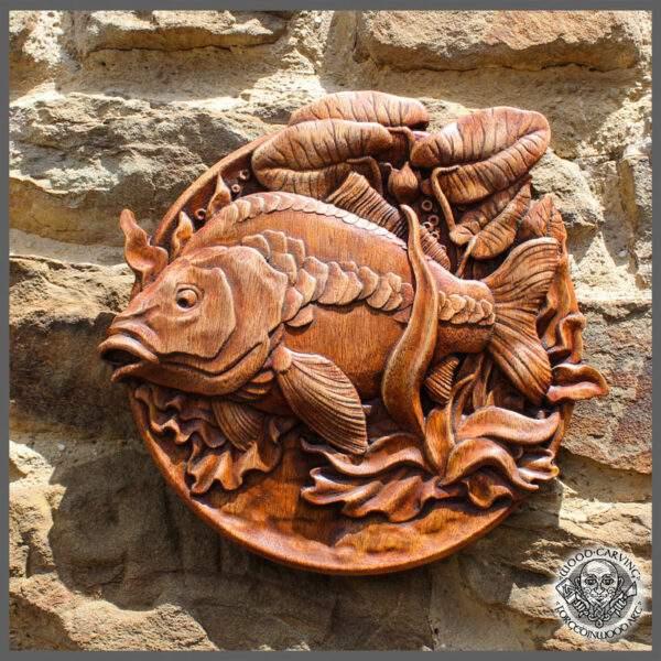 Fish Carp Wooden Decor