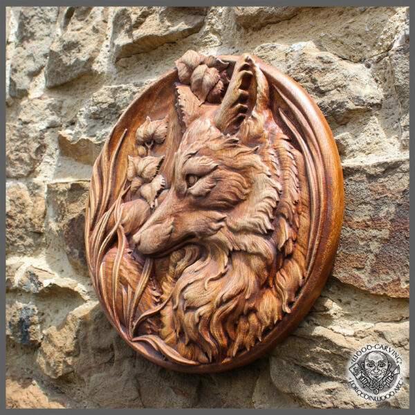Animal hand-carved wood