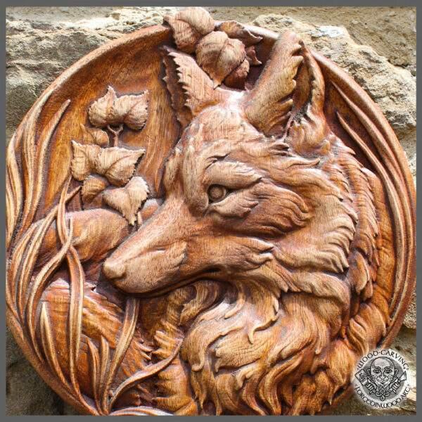 Handmade Wooden Fox
