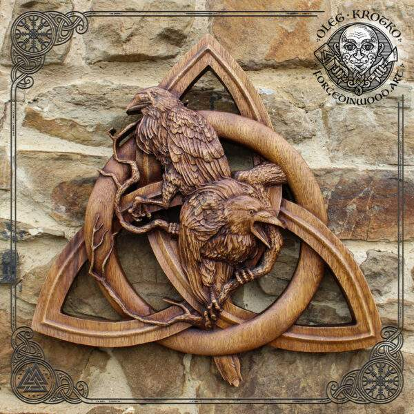 Huginn and Muninn Odin's Ravens on the Magic Knot
