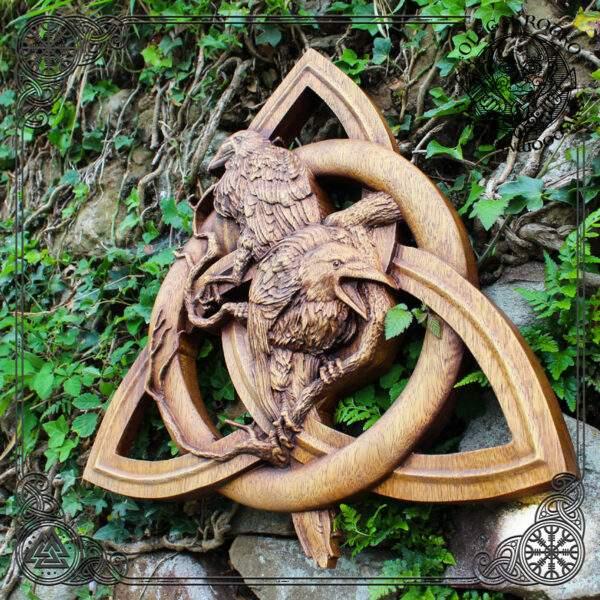 norse symbols triquetra carvings