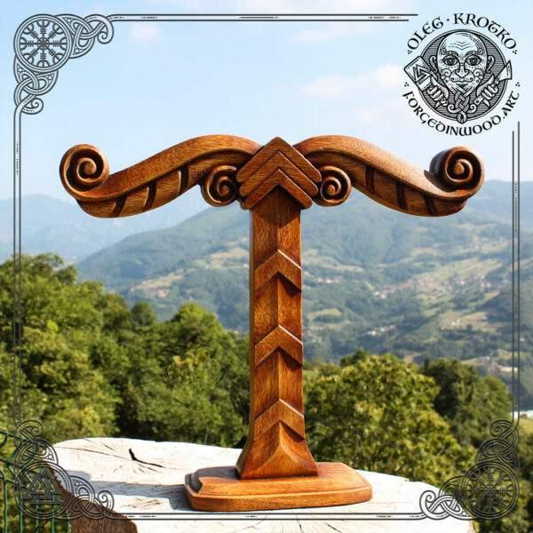 Irminsul wood carving