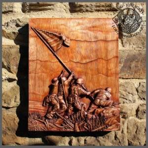 American Marine Hero carvings
