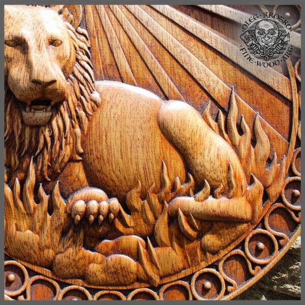 LEO ZODIAC SIGN WOODEN PICTURE