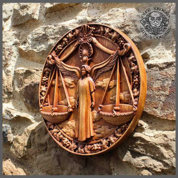 LIBRA horoscope carvings