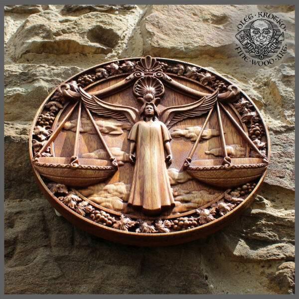 LIBRA horoscope carving