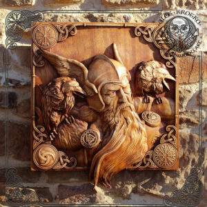 Odin and Ravens Wall Hanging