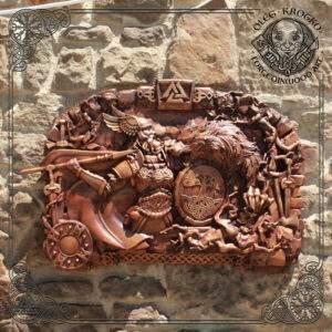 Odin Fenrir Ragnarok wood carving
