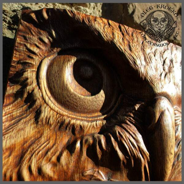 Wooden Hand Carved Owl