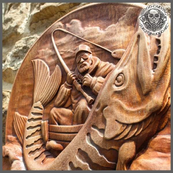 PIKE FISH carvings