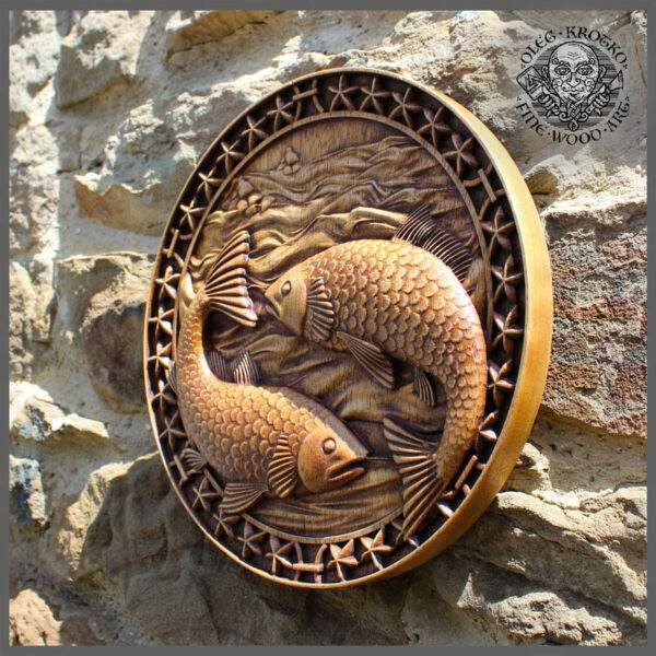 Pisces horoscope carvings for sale