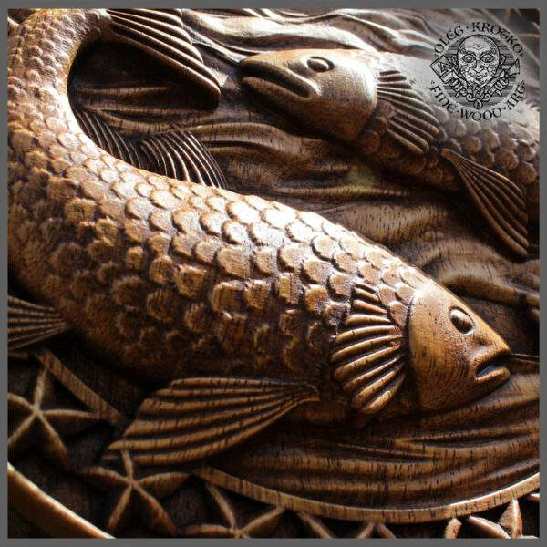 Pisces zodiac sign carvings for sale