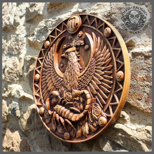Scorpio Zodiac Sign wooden plaque