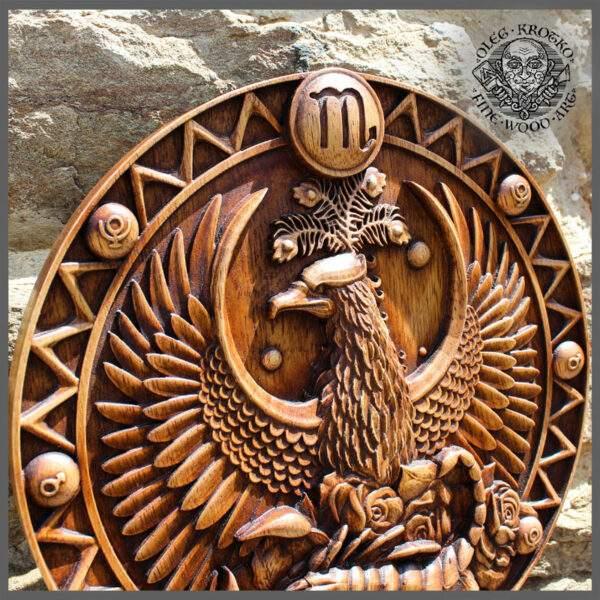 SCORPIO horoscope wood carving cheap
