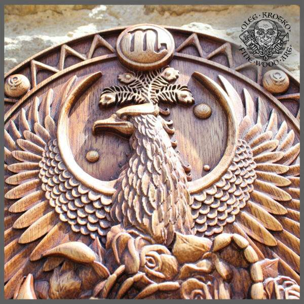 SCORPIO Zodiac Sign wood carving cheap