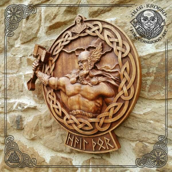 Thor viking art for sale
