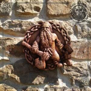 Viking Axe Beard wood carving