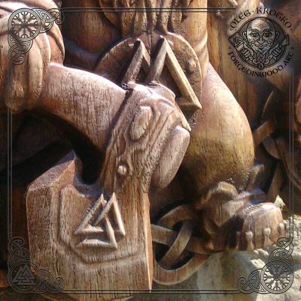 viking carvings wall art