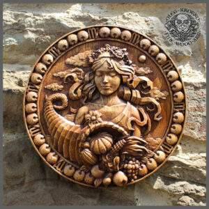 Virgo Zodiac Sign Wooden Plaque