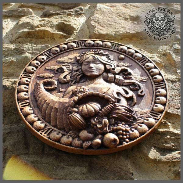 Virgo horoscope wood carving gift