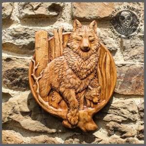 Wolf portrait wall art