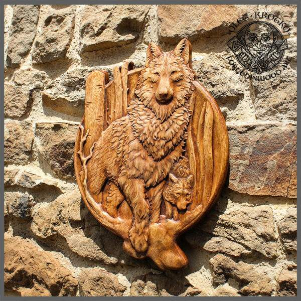 Rustic Wooden wolf