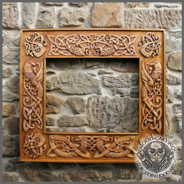Celtic knotwork wooden frame