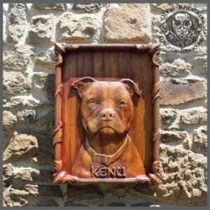 Custom Dog portrait pitbull