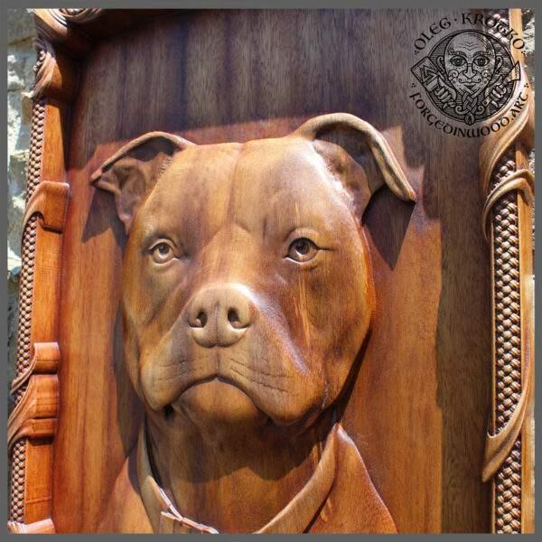 pet portrait on wood