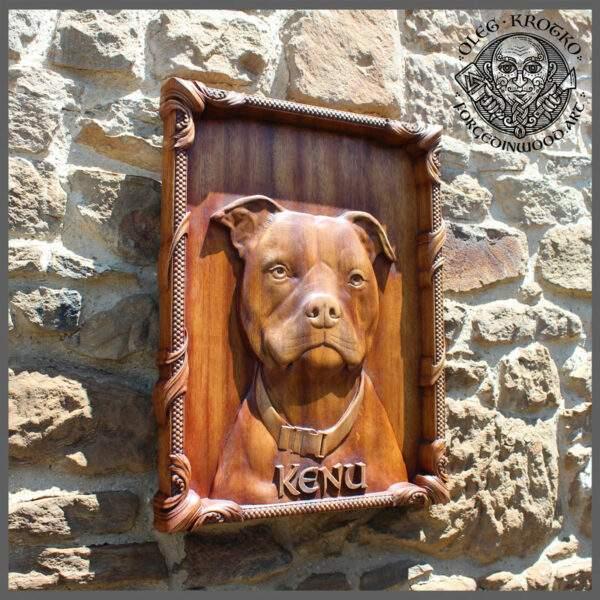 dog photo prints on rustic wood
