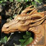 dragon norse wood carving for sale