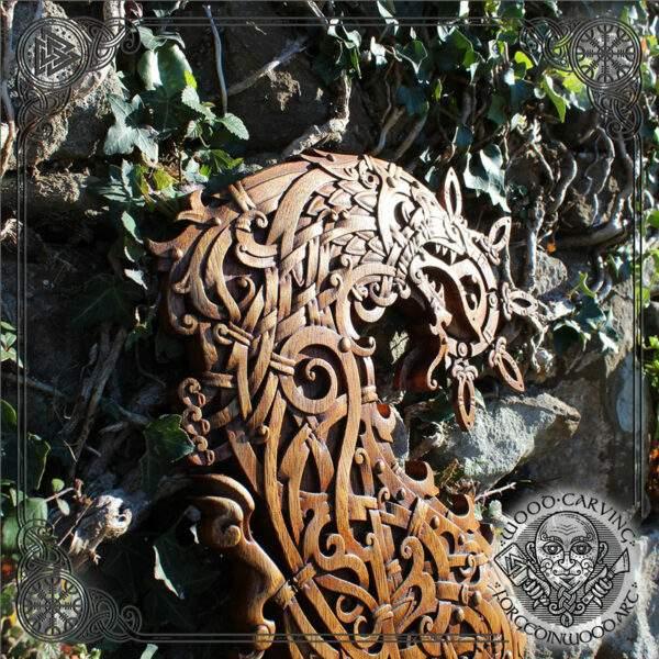 fenrir hand carved