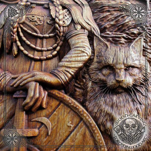 Freya cats carving