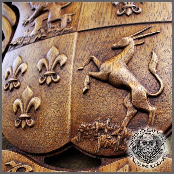 Coat of Arms wood carving