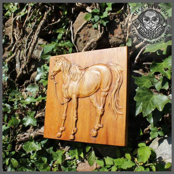 horse Wood Carving Wall Decor