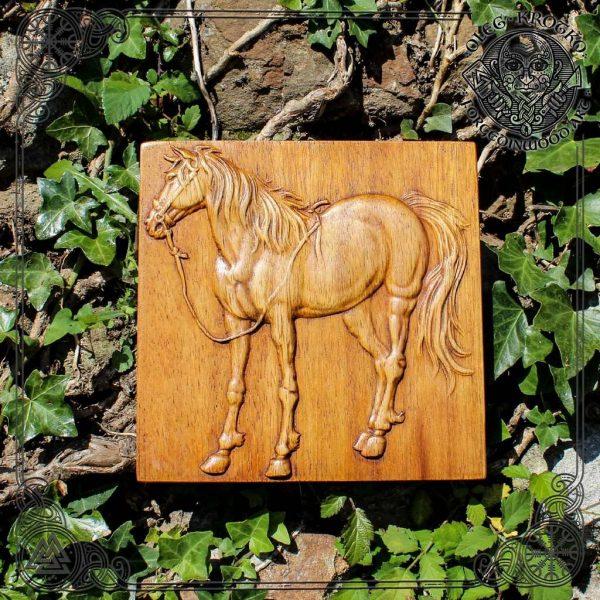 horse wooden plaque for sale