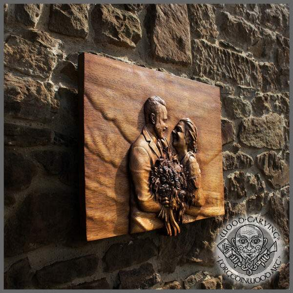 Realistic Custom Portrait carved in Wood