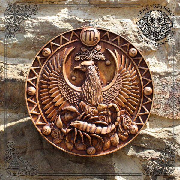 scorpio wooden plaque wall art