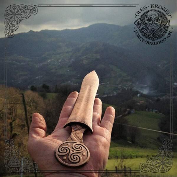 Trisquel wooden sword bookmark