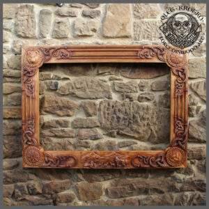 Wolf Viking Wooden Frame